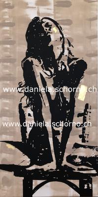 Bild von Daniela Schorno Akt auf Stuhl Nr. 4 60 x 120