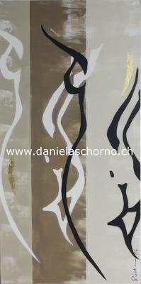 Bild von Daniela Schorno: Frauenkörper 60 x 120