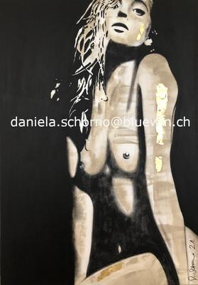 Bild von Daniela Schorno kniender Akt 70 x 100