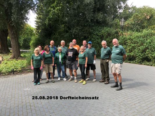 25.08.2018 Pflegeeinsatz am Buckower Dorfteich