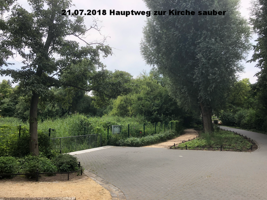 21.07.2018 Hauptweg Nordseite vom Teich