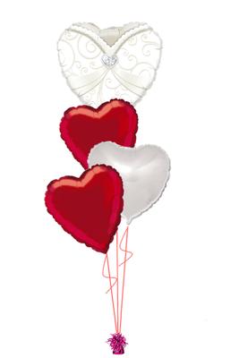 bukiet balonowy weselny pani młoda