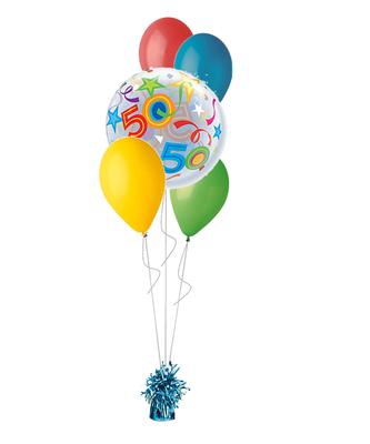 bukiet balonowy 50-tka