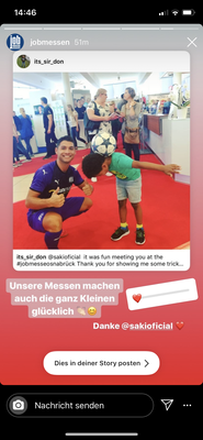 Jobmesse Osnabrück Saki Fußball Freestyler mit Kids