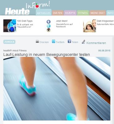 Heute in Form: healthPi misst Fitness