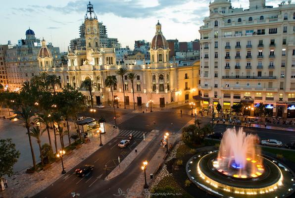 Plaza de Ayuntamiento de València años 2.000.