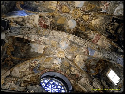 Otro increíbre freco de La iglesia de San Nicolás (Sant Nicolau) está ubicada y casi escondida entre tortuosas y plazas recoletas en el Casco Antiguo de Valencia