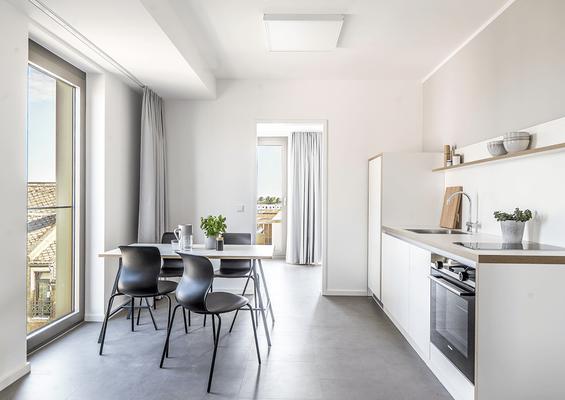 Gestaltung und Herstellung des Mobiliars für 213 Appartments des Studentenwohnheims Wiebaden