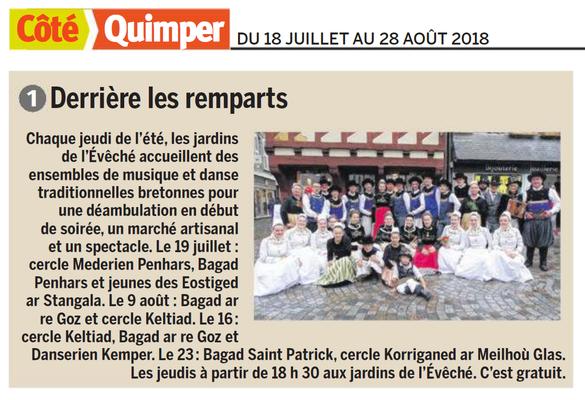 Coté Quimper  -  18 au 29 Août 2018