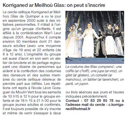 Ouest-France  -  Vendredi 9 Octobre 2015