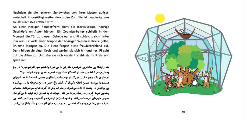 Bilinguale Ausgabe Dt.-Pers. Seite 18 & 19