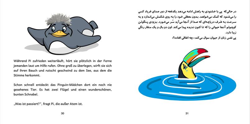 Bilinguale Ausgabe Dt.-Pers. Seite 30 & 31