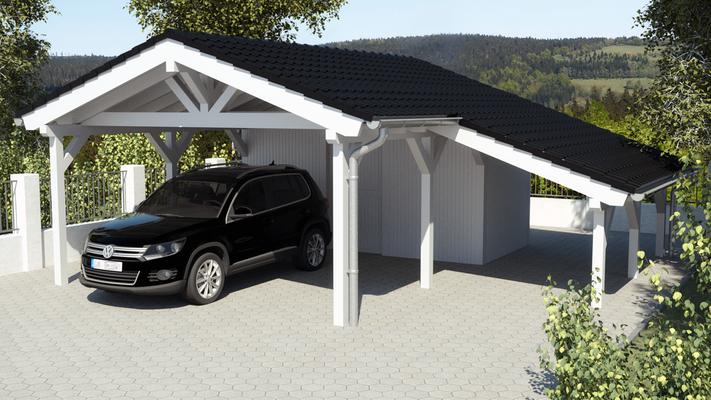 Carport mit Vordach