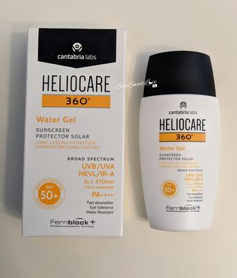 Fronte confezione Heliocare 360 ° water gel 50+