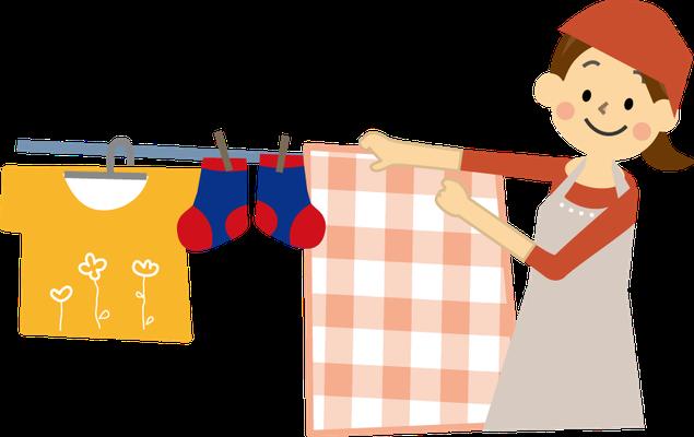 洗濯物の仕分けから畳みまで基礎看護が生きる仕事です。