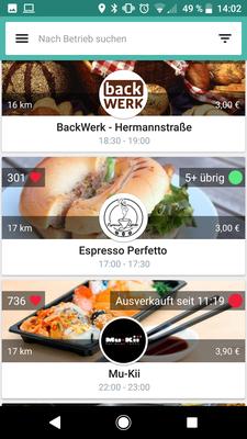 Eigene Aufnahme aus App - Alle Rechte bei https://toogoodtogo.de/