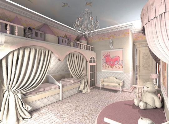 розовая спальня для девочек дизайн проект