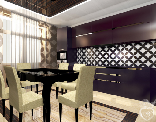 дизайн кухни в интерьере квартиры