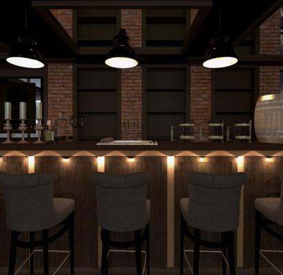 барная зона в ресторане в общем зале