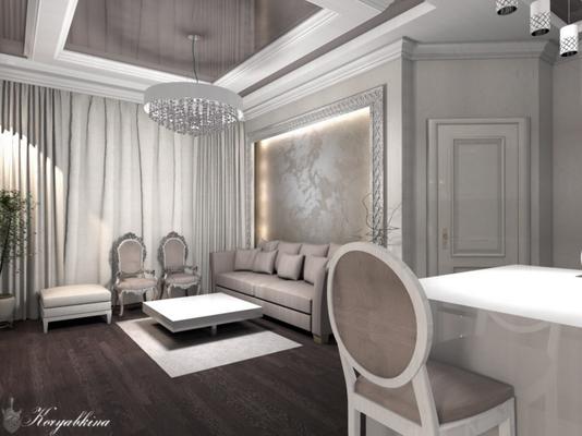 гостиная в современном классическом стиле