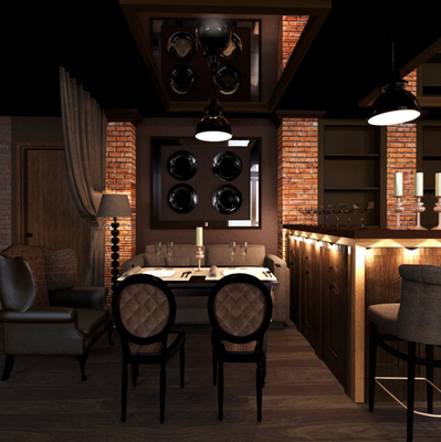 портволио по дизайну ресторанов и интерьеров