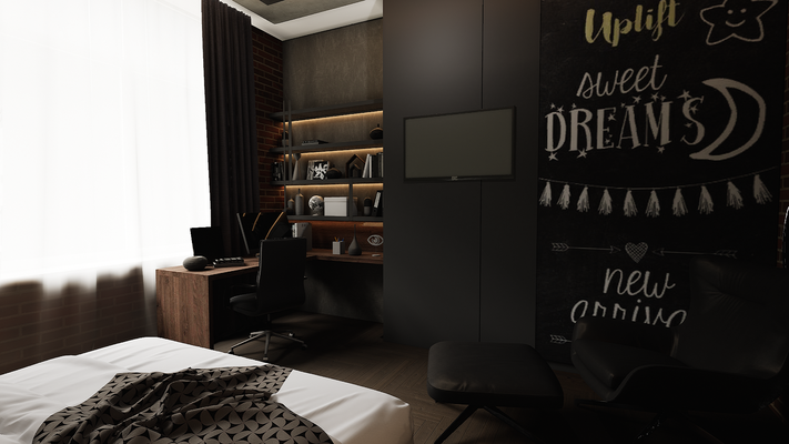Встроенная мебель для комнаты мальчика