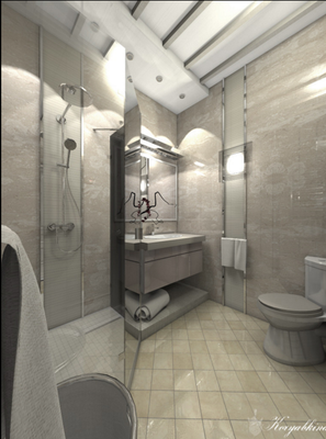 глянцевая мебель в ванной комнате