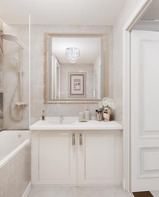 Интерьер ванной комнаты. Дизайнер Анастасия Корябкина