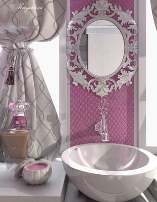 зеркало для ванной в классическом багете