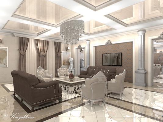 дизайнерский ремонт гостиной