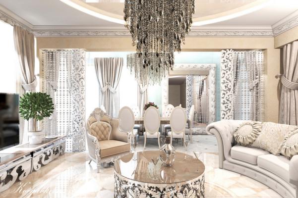 дизайн интерьера гостиной классика