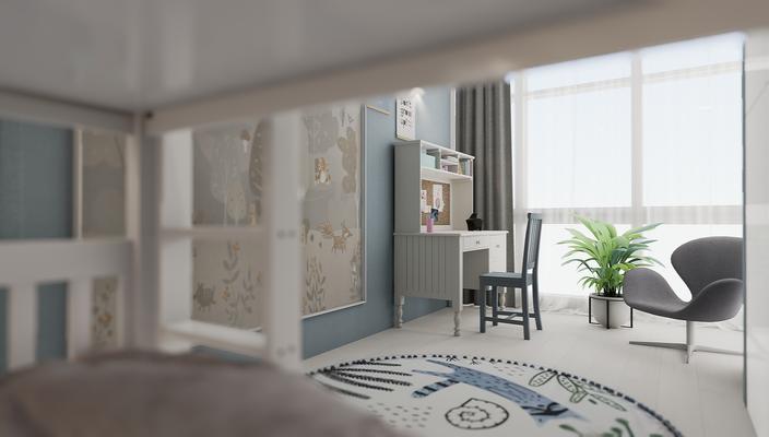 Дизайн интерьера квартиры. Интерьер детской с двухярусной кроватью. Дизайнер интерьера Анастасия Корябкина