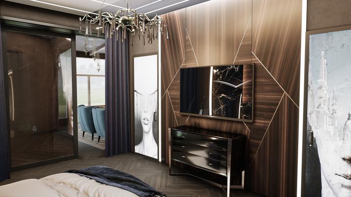 Стеновые панели МДФ в интерьере спальни