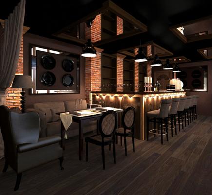 частный дизайнер интерьера ресторана и сам ресторан