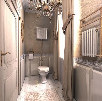 классический интерьер загородного дома ванная комната