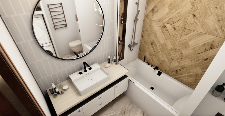 дизайн ванной комнаты в белых цветах