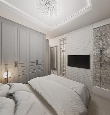 Дизайн интерьера спальной комнаты. Дизайнер интерьера Анастасия Корябкина