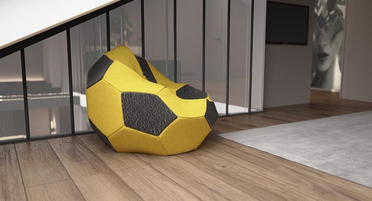 Кресло футбольный мяч в интерьере детской