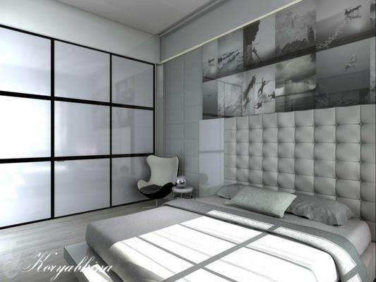 белая спальня интерьер