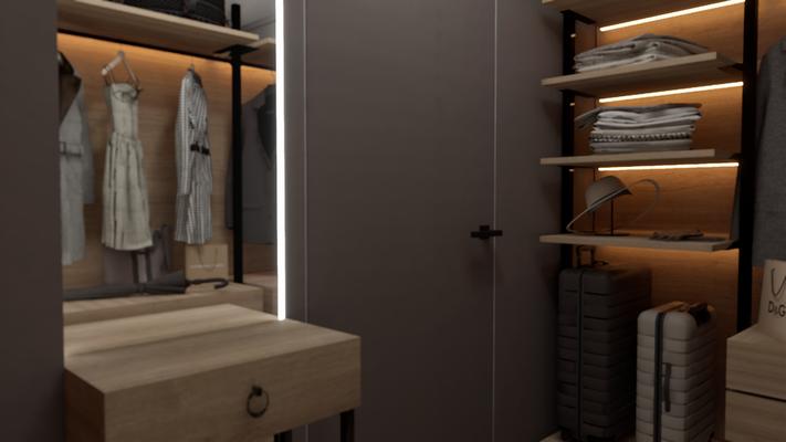 Проект интерьера гардеробной