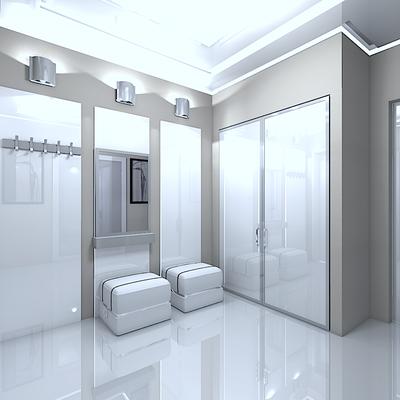 современная прихожая шкафы на заказ белый лак минимализм