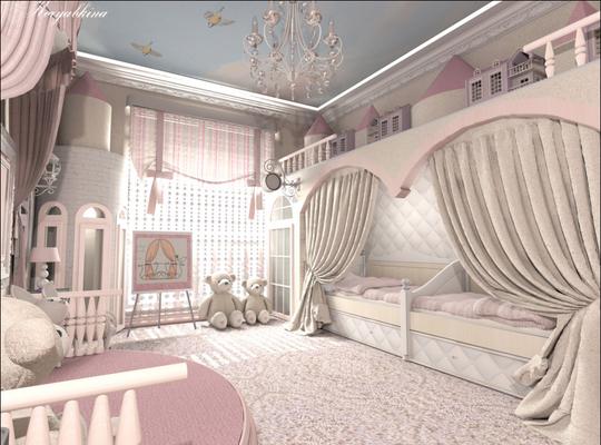 интерьер и дизайн спальни для девочек