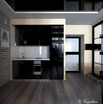 дизайн черной кухни