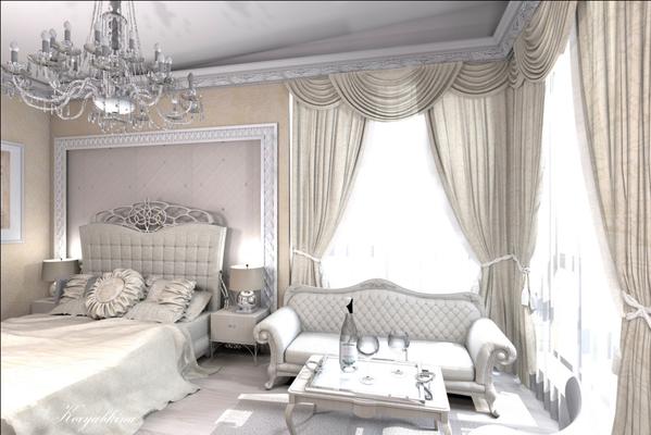 классическая спальня дизайн интерьера