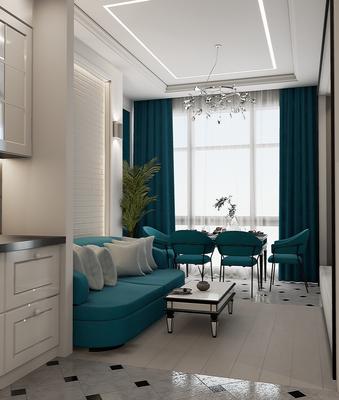 Дизайн-проект гостиной. Дизайнер Анастасия Корябкина