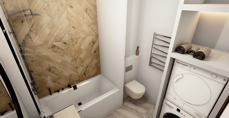 деревянная плитка для ванной