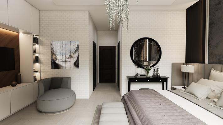 Белая спальня для двеочи