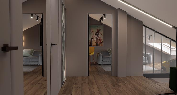 Интерьер холла второго этажа
