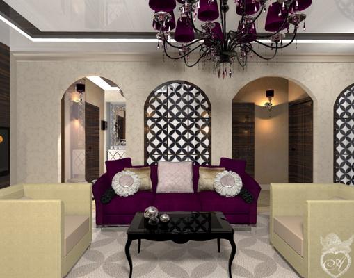 дизайн проект квартиры в современном восточном стиле