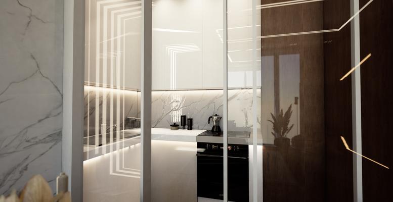 дизайн кухни в апартаментах